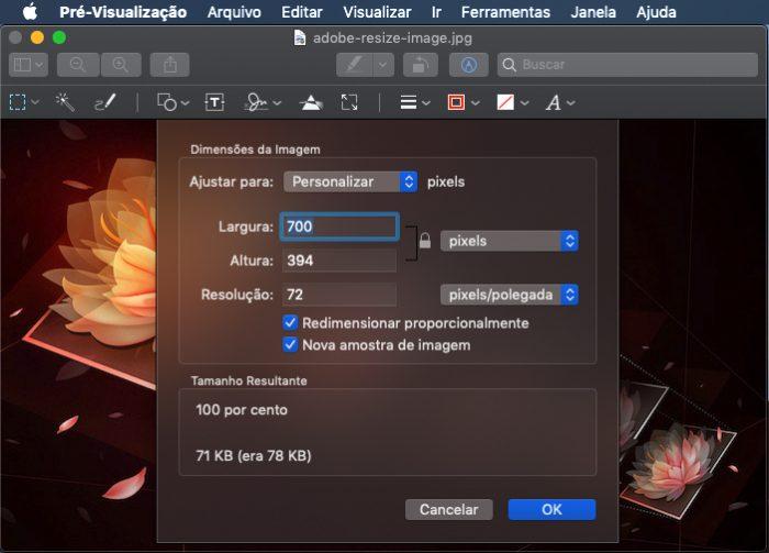 macOS / image resize / redimensionar imagens
