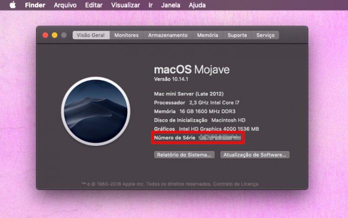 macOS / Sobre este Mac / verificar garantia apple