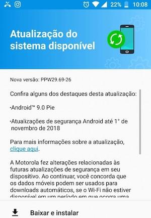 Motorola Moto X4 - Android 9 Pie