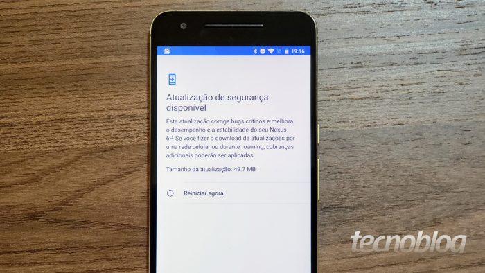Nexus 5X e 6P podem ter recebido a última atualização de segurança – Tecnoblog