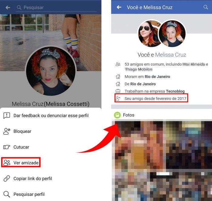 tempo amizade facebook / Reprodução