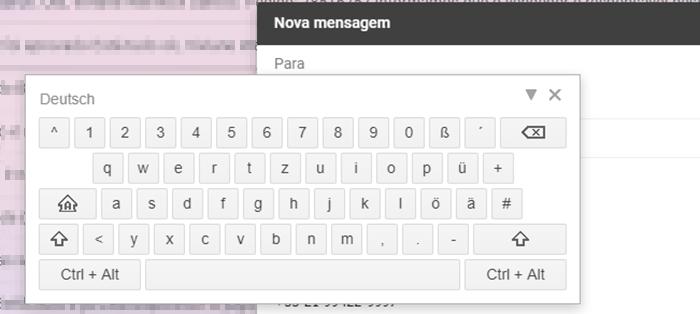 teclado virtual / reprodução