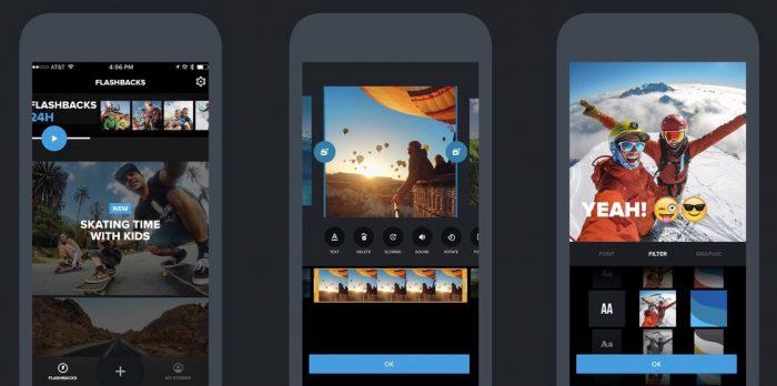 Quik / iOS / aplicativo de fazer vídeo