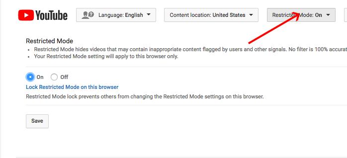 Restrito Modo Youtube