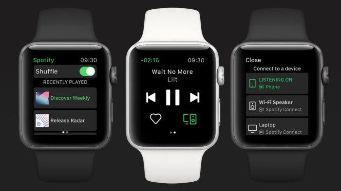 Spotify no Apple Watch (Imagem: Divulgação/Spotify)
