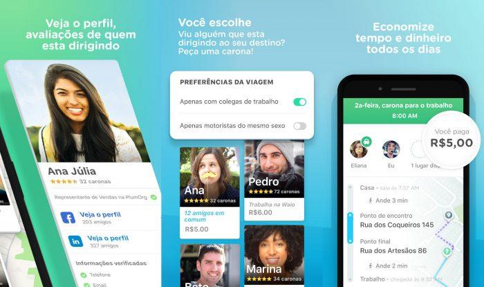 Android / Waze Carpool / aplicativo de carona