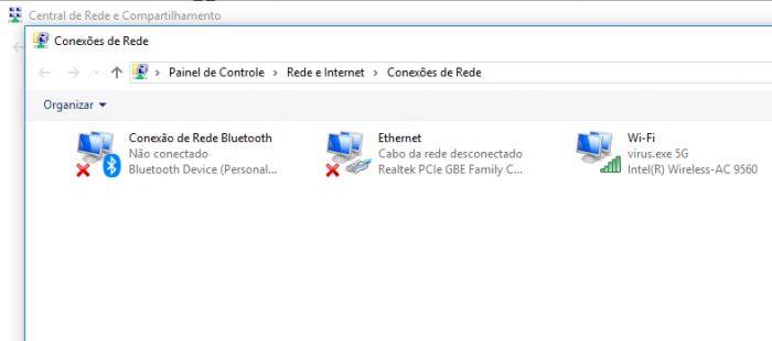 Windows / Central de Rede e Compartilhamento / como descobrir a senha do wi-fi que estou conectado