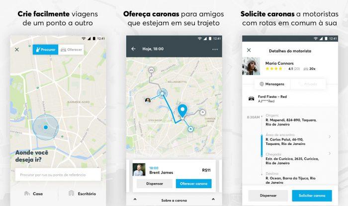 Android / Wunder / aplicativo de carona
