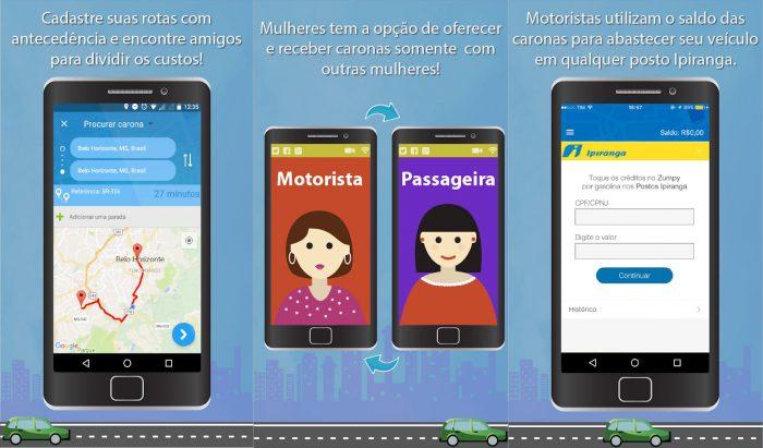 Android / Zumpy / aplicativo de carona