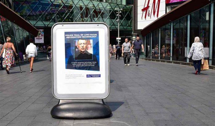 Polícia britânica avisa sobre testes com reconhecimento facial