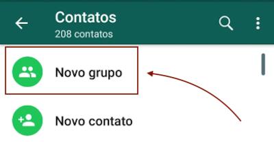 Criar Novo Grupo WhatsApp
