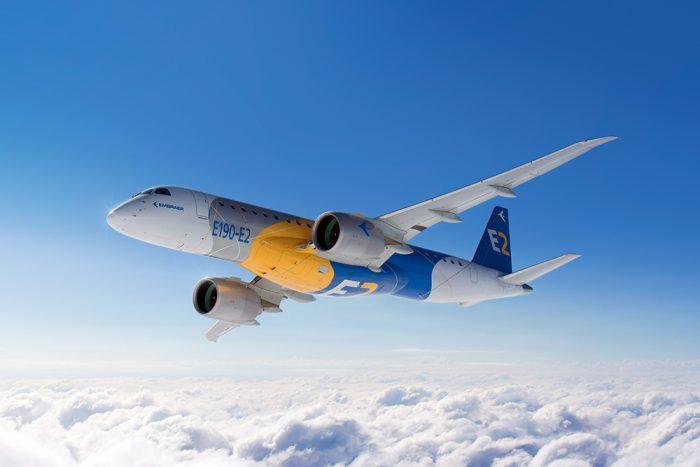Um Embraer E190-E2 voando (lindão, né?)