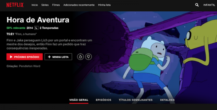 Hora de Aventura - Netflix