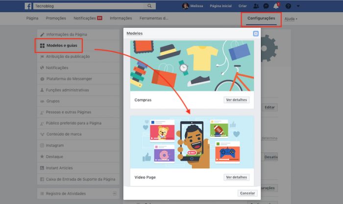 Modelo de Video Facebook