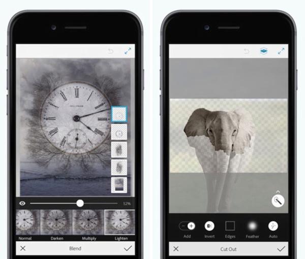 iPhone / Adobe Photoshop Mix / editores de fotos para iphone