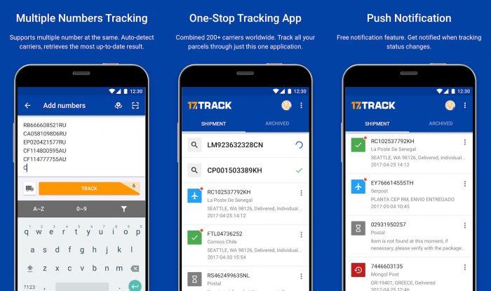 Android / 17Track / rastreamento correios