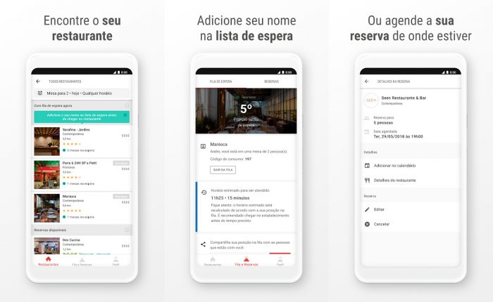 Android / Get In / reserva restaurantes