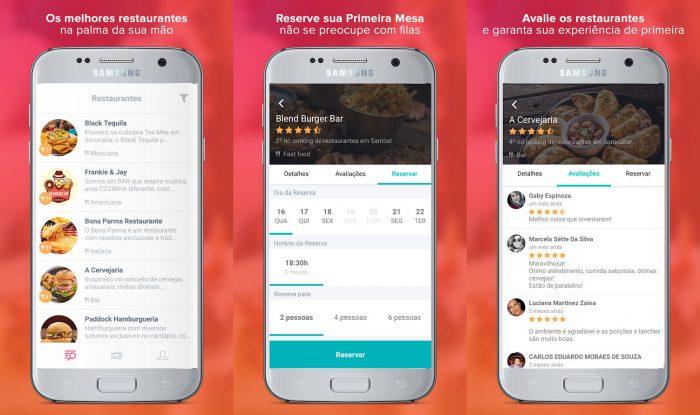 Android / Primeira Mesa / reserva restaurantes