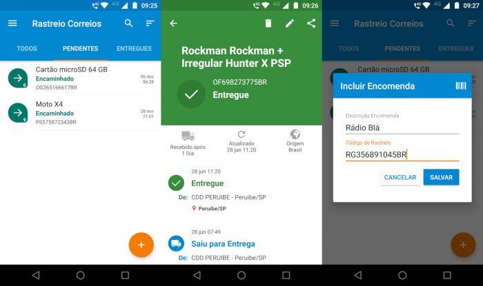 Android / Rastreio Correios / rastreamento correios