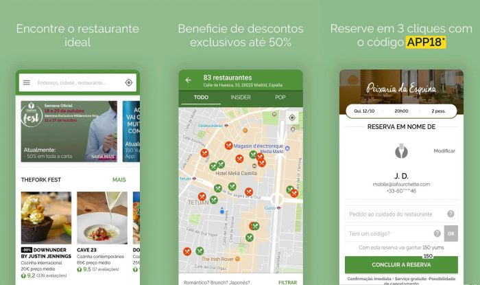 Android d/ TheFork / reserva restaurantes