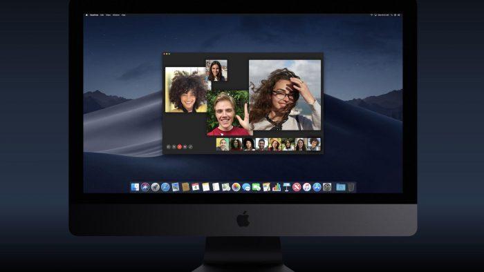 Apple / chamada de vídeo em grupo do FaceTime no macOS / facetime vídeo