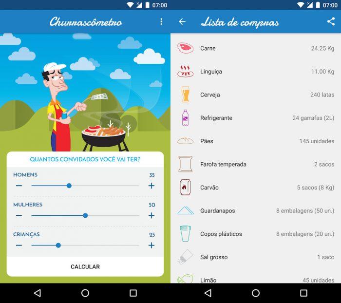 Android / Churrascômetro / como calcular churrasco