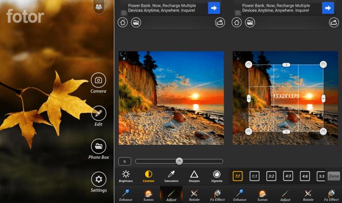 iPhone / Fotor / editores de fotos para iphone