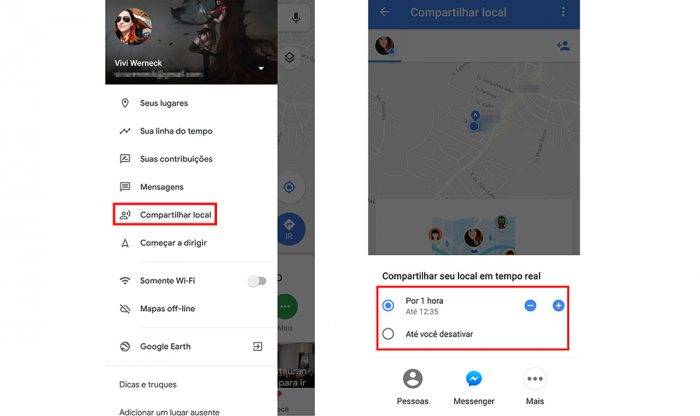 google maps reprodução