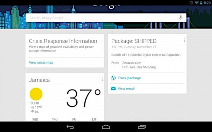 Google Now / rastreamento correios