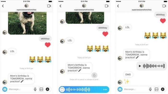 Instagram libera mensagens de voz