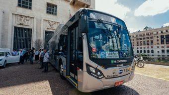 Estes são os primeiros ônibus 100% elétricos da BYD que irão rodar em São Paulo