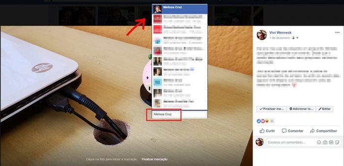 facebook marcação / reprodução