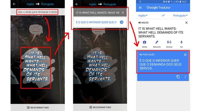 google tradutor câmera / reprodução
