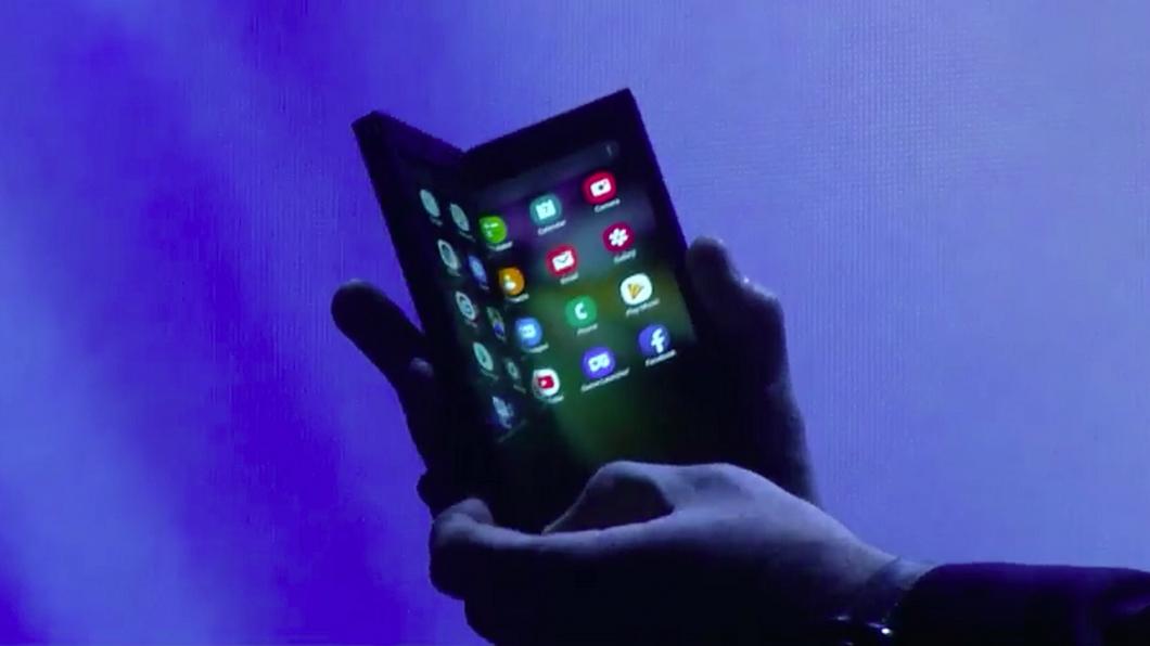 Celular dobrável da Samsung