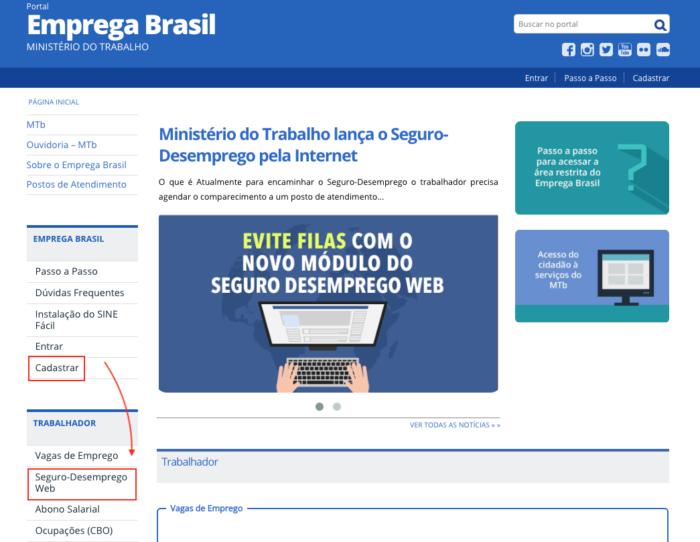 Seguro Desemprego Online - Emprega Brasil - Sine