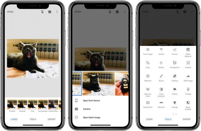 iPhone / Snapseed / editores de fotos para iphone