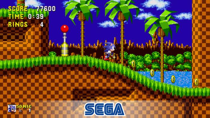 Sonic the Hedgehog é um dos 25 jogos que estão disponíveis no Sega Classics