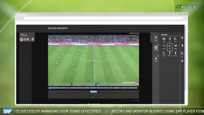 O Sports One, da SAP, será usado para ajudar a comissão técnica do Flamengo