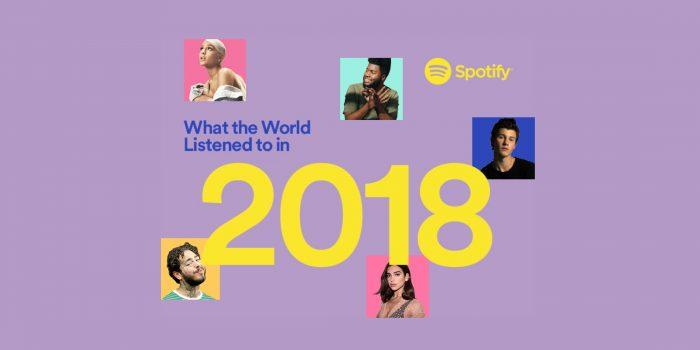 Mais ouvidos do Spotify em 2018