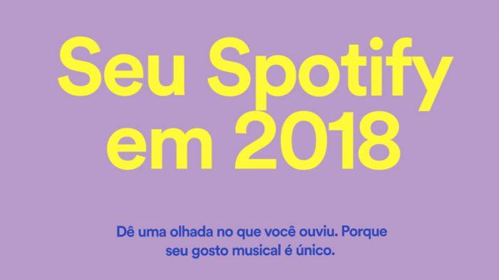 Spotify libera playlist com o que você mais ouviu em 2018