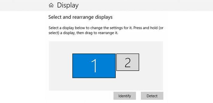 Windows / Tela de configuração de monitores / como usar dois monitores