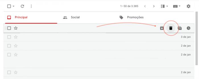 Excluir Gmail