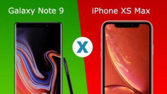 Comparativo: Galaxy Note 9 ou iPhone XS Max, qual é melhor?
