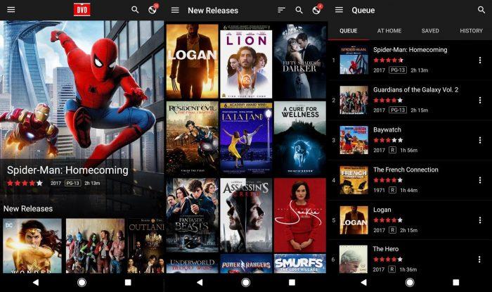 Android / interface do app DVD Netflix / como funciona a netflix
