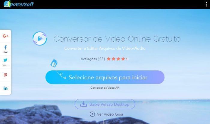 Apowersoft conversor de Vídeo Online / converter vídeo em áudio