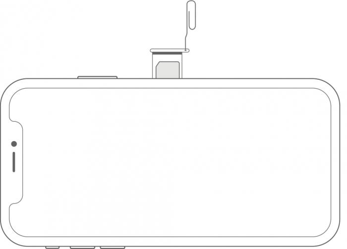Apple / bandeja do iPhone XS / como colocar o chip no iphone