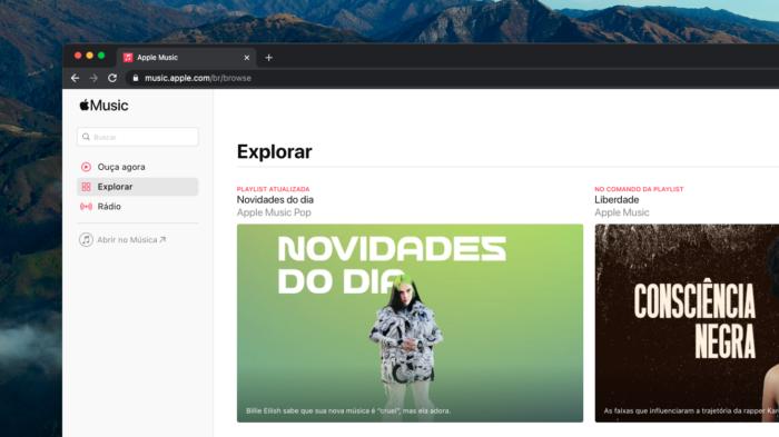 Apple Music Web (Imagem: Reprodução/Apple)