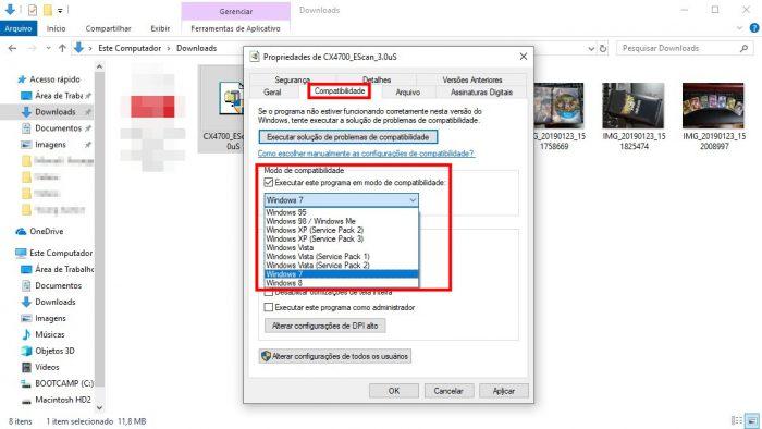 Windows 10 / ativando o modo de compatibilidade / como instalar impressora