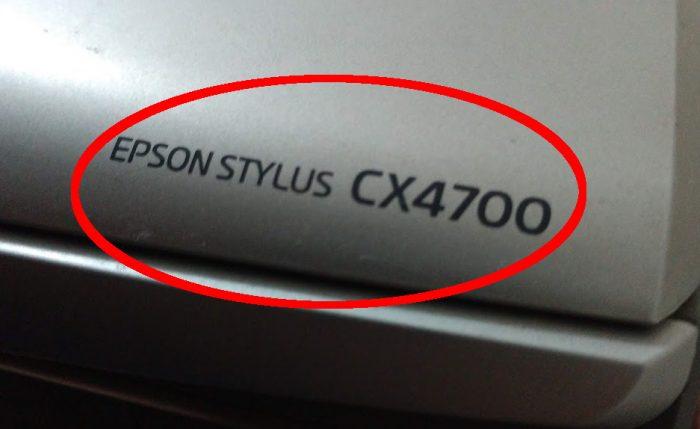 Epson Stylus CX4700 (detalhe) / como instalar impressora