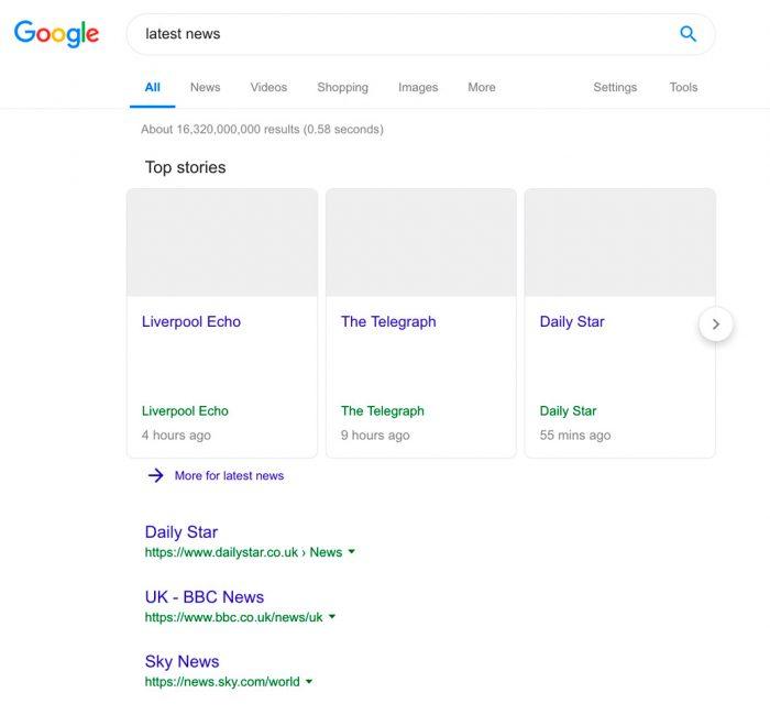 Google mostra como ficaria com lei de direitos autorais da União Europeia